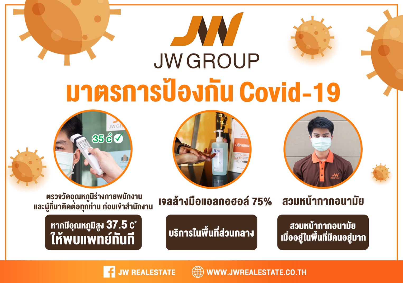 มาตรการป้องกัน Covid-19